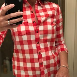 Hollister red gingham button down